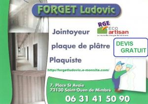 forget ludovic plaquiste isolation bandes joints sarthe